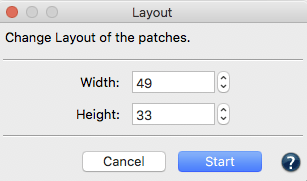 ColorAnt 5 Width and Height of patches in Layout feature for Data Sets