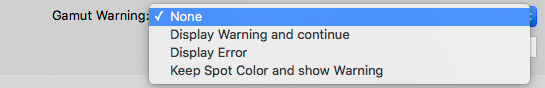 Gamut Warning Options