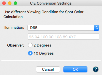 CIE Conversion Feature