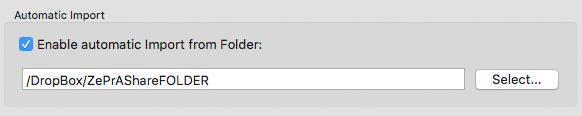 Setting an Auto Import Folder